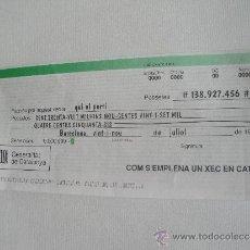 Documentos bancarios: CHEQUE EN CATALÁN. COM S´EMPLENA UN XEC EN CATALÁ. COM CAL UTILITZAR ELS NOMBRES EN CATALÁ.. Lote 37236431