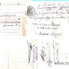 Documentos bancarios: 1893.- LETRA ESPAÑOLA NUEVA SIN USAR CLASE 21ª, ADHERIDA A LETRA FRANCESA POR 100 FF.. Lote 37256625