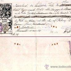 Documentos bancarios: ALEMANIA 1928.- LETRA OFICIAL EMITIDA HARLSLAND PAGAR EN MADRID EN PESETAS.. Lote 37258405