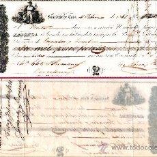 Documentos bancarios: CUBA 1861.- LETRA PRIVADA 2ª DE CAMBIO, EMITIDA EN STGO. DE CUBA A PAGAR EN BARNA POR