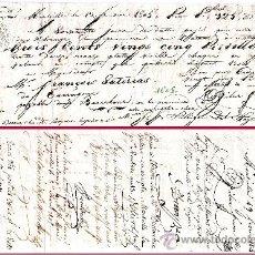 """Documentos bancarios: FRANCIA 1805.- LETRA 2ª DE CAMBIO EMITIDA EN MARSELLA A PAGAR EN BARCELONA POR """"325 PISTOLES """". Lote 37264798"""
