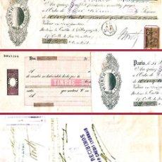 """Documentos bancarios: FRANCIA 1896.-LETRA PRIVADA EMITIDA EN PARIS A PAGAR EN MADRID POR """"500 FRANCOS"""". Lote 37265096"""
