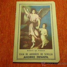 Documentos bancarios: LIBRETA DE AHORRO INFANTIL DEL MONTE DE PIEDAD DE SEVILLA.1955 +. Lote 37483736