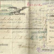 Documentos bancarios: LETRA DE CAMBIO. LIBRADOR: GUTIERREZ HERMANOS. LIBRADO: EMILE GAYD. JEREZ. CÁDIZ. 1887. Lote 38033059