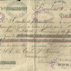 Documentos bancarios: LETRA DE CAMBIO. LIBRADOR: GUTIERREZ HERMANOS. LIBRADO: CARLOS J. PEREIRA. GUAYAQUIL. ECUADOR. 1895. Lote 38033798