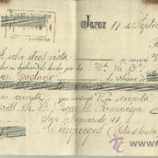 Documentos bancarios: LETRA DE CAMBIO. LIBRADOR: GUTIERREZ HERMANOS . LIBRADO: OSCAR G. PUMARIEGA. JEREZ. CÁDIZ. 1900. Lote 38033957