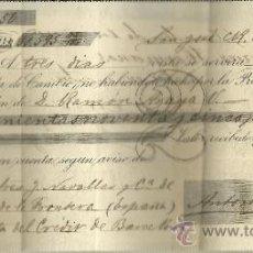 Documentos bancarios: LETRA DE CAMBIO. LIBRADOR :ANTONIO FONT. LIBRADO: GUTIERREZ HERMANOS. SAN JOSÉ. COSTA RICA. 1896. Lote 83595087