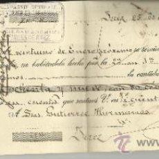 Documentos bancarios: LETRA DE CAMBIO. COMPAGNIE GENERALE DES VERREIS ESPAGNOLES. GUTIERREZ HERMANOS. JEREZ.CÁDIZ. 1911. Lote 38045222