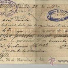 Documentos bancarios: LETRA DE CAMBIO. LIBRADOR: SALVADOR RUIZ MORILLAS. LIBRADO: GUTIÉRREZ HERMANOS. RONDA.MÁLAGA.1892. Lote 38085328