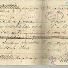 Documentos bancarios: LETRA DE CAMBIO. LIBRADOR: GUTIÉRREZ HERMANOS. LIBRADO: ADOLFO FLUCK. JEREZ. CÁDIZ. 1895. Lote 38092319