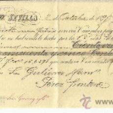 Documentos bancarios: LETRA DE CAMBIO. LIBRADOR: LACAVE Y Cª. LIBRADO: GUTIÉRREZ HERMANOS. SEVILLA. 1895. Lote 38093606