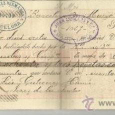 Documentos bancarios: LETRA DE CAMBIO. LIBRADOR: GUTIÉRREZ HERMANOS. TOMADOR: JUAN MUSOLAS Y Cª. BARCELONA. 1896. Lote 38093912