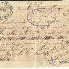 Documentos bancarios: LETRA DE CAMBIO. LIBRADOR: GUTIÉRREZ HERMANOS. TOMADOR: JUAN MUSOLAS Y Cª. BARCELONA. 1896. Lote 38094137