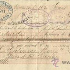 Documentos bancarios: LETRA DE CAMBIO. LIBRADOR: GUTIÉRREZ HERMANOS. TOMADOR: JUAN MUSOLAS. BARCELONA. 1896. Lote 38094246