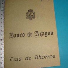 Documentos bancarios: LIBRETA DE AHORROS BANCO DE ARAGON Nº 176157 AÑO 1965 SUCURSAL DE VALENCIA. Lote 38281252