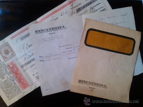 LETRA DE CAMBIO SOBRE Y NOTIFICACION BANCA VILELLA REUS 1957 VILELLABAN (Coleccionismo - Documentos - Documentos Bancarios)