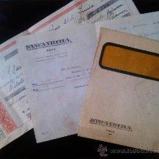 Documentos bancarios: LETRA DE CAMBIO SOBRE Y NOTIFICACION BANCA VILELLA REUS 1957 VILELLABAN. Lote 38531589