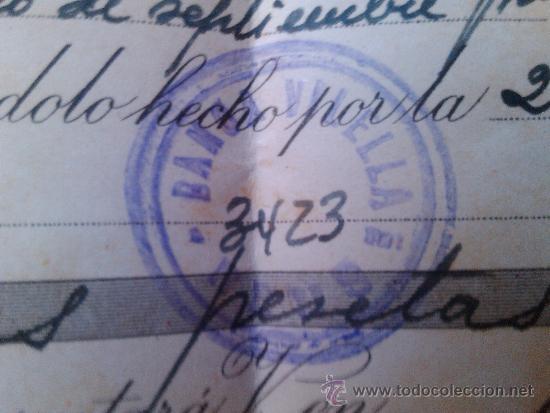 Documentos bancarios: LETRA DE CAMBIO SOBRE Y NOTIFICACION BANCA VILELLA REUS 1957 VILELLABAN - Foto 3 - 38531589