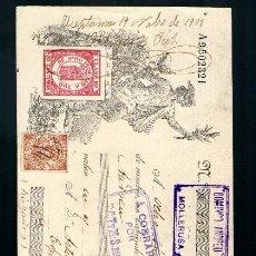 Documentos bancarios: LETRA DE CAMBIO 1908 CLASE 16 - 10 CTMOS FISCAL MOVIL 10 CTMOS MOLLERUSA BARCELONA LERIDA . Lote 39035744