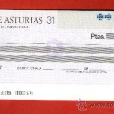 Documentos bancarios: BANCO DE ASTURIAS - TALÓN CHEQUE BANCARIO COLECCIONISMO BANCARIO. Lote 39142719