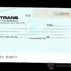 Documentos bancarios: BANCOTRANS BANCO COMERCIAL TRANSATLANTICO - TALÓN CHEQUE BANCARIO COLECCIONISMO BANCARIO. Lote 39163053