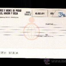 Documentos bancarios: CAJA AHORROS MONTE PIEDAD ZARAGOZA ARAGON Y RIOJA - TALÓN CHEQUE BANCARIO COLECCIONISMO BANCARIO. Lote 39163537