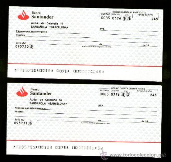 Banco santander pareja serie numeraci n correla comprar for Banco santander mas cercano a mi ubicacion