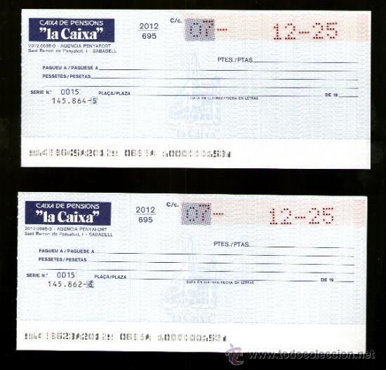 Caixa pensions la caixa 2 talones cheque bancar comprar for La caixa de pensions oficinas