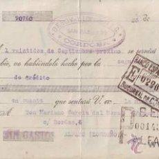 Documentos bancarios: LETRA DE CAMBIO DEL AÑO 1930.. Lote 39660109