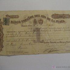 Documentos bancarios: LETRA BANCO ESPAÑOL DEL RÍO DE LA PLATA. Lote 30181388