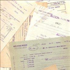 Documentos bancarios: LOTE DE 40 DOCUMENTOS VARIADOS BANCARIOS DE ALCOY (ALICANTE) - AÑOS 40. Lote 40162653