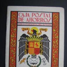 Documentos bancarios: CARTILLA CAJA POSTAL DE AHORROS DE CORDOBA 1968. Lote 40973942