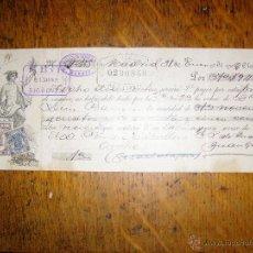 Documentos bancarios: ANTIGUA LETRA DE CAMBIO - 1902 - CLASE 16 -. Lote 41146907