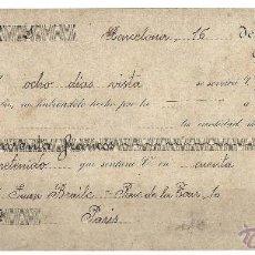 Documentos bancarios: LETRA DE CAMBIO BARCELONA 1907. Lote 41297832