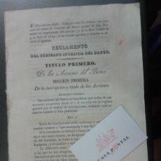 Documentos bancarios: REGLAMENTO DEL GOBIERNO DEL BANCO DE SAN FERNANDO. 1829. Lote 41582783