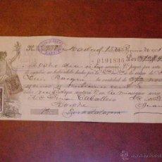 Documentos bancarios: ANTIGUA LETRA DE CAMBIO - PRIMERA DE CAMBIO - AÑO 1901 - CLASE 16 -. Lote 41719536