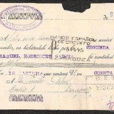 Documentos bancarios: LETRA DE CAMBIO LIBRADA POR DIEGO LAMONEDA DE CAMAS-SEVILLA AÑO 1930. Lote 41770871