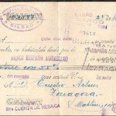 Documentos bancarios: LETRA DE CAMBIO LIBRADA POR RAFAEL CALZADA DE BILBAO AÑO 1931. Lote 41772676