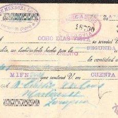Documentos bancarios: LETRA DE CAMBIO LIBRADA POR JOSE MENDOZA DE CANTIMPALOS-SEGOVIA- AÑO 1932. Lote 41773994