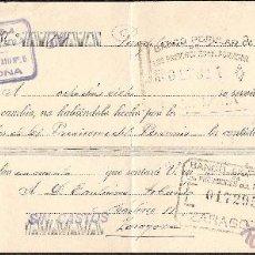Documentos bancarios: LETRA DE CAMBIO LIBRADA POR CAMIONES ANTONIO URRUZOLA DE PAMPLONA AÑO 1931. Lote 41774891