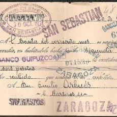 Documentos bancarios: LETRA DE CAMBIO LIBRADA POR MANUEL CLEMENT DE SAN SEBASTIAN AÑO 1931. Lote 41783318