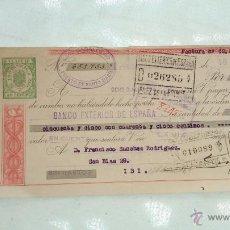 Documentos bancarios: ANTIGUO PAGARE 1941 BANCO INTERNACIONAL INDUSTRIA CON SELLO DE CORREOS EN VEZ DE TASAS RAREZA¡. Lote 41873749