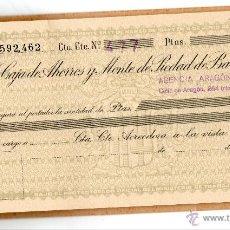 Documentos bancarios: CAJA AHORROS Y MONTE PIEDAD BARCELONA. LA CAIXA. CAIXABANK. CAIXA BARCELONA. CHEQUE. XEC. TALON.. Lote 42200236