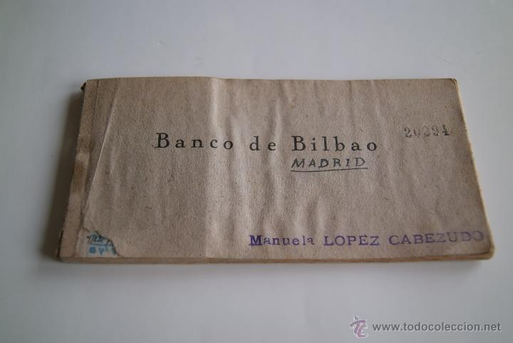 TALONARIO CHEQUES BANCO DE BILBAO 1941 (Coleccionismo - Documentos - Documentos Bancarios)