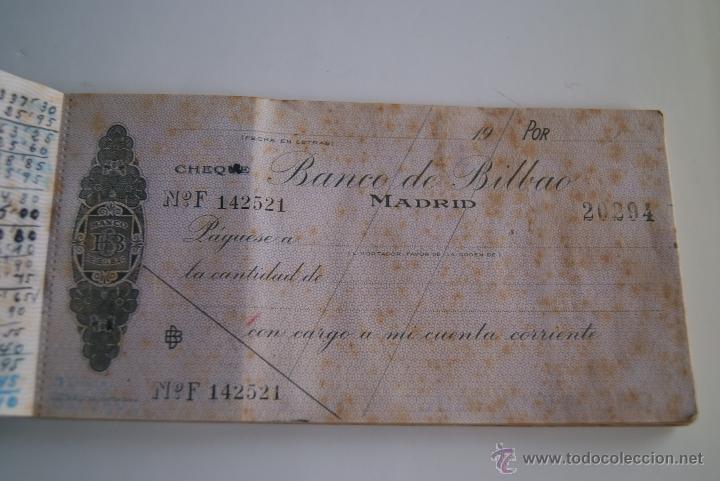 Documentos bancarios: Talonario cheques Banco de Bilbao 1941 - Foto 2 - 106647212