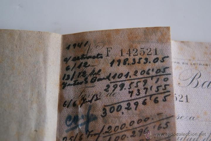 Documentos bancarios: Talonario cheques Banco de Bilbao 1941 - Foto 3 - 106647212