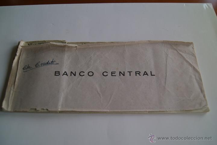 Documentos bancarios: Antiguo talonario de cheques Banco Central 1959 - Foto 2 - 42481927