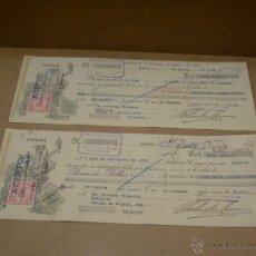 Documentos bancarios: PAR DOCUMENTOS BANCARIOS. Lote 42627378