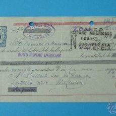Documentos bancarios: LETRA ACEPTADA CLASE 8ª BANCO HISPANO AMERICANO. 1947. CON TIMBRE ESPECIAL MÓVIL DE 30 CTS. Lote 43337137