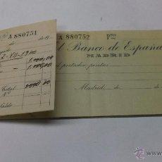 Documentos bancarios: TALONARIO DE CHEQUES DEL BANCO DE ESPAÑA CON 9 CHEQUES SIN USAR. BIEN CONSERVADO . Lote 43365291